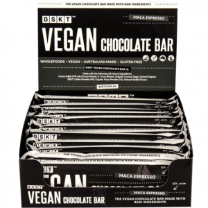 BSKT Vegan Chocolate Bar Maca Espresso 45g x 12