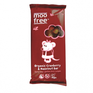 Moo Free Dairy Free Organic Cranbrry Hazelnt Chocolate 100g