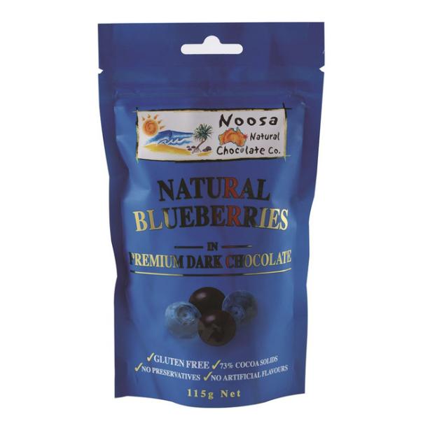 Noosa Natural Blueberries Dark Chocolate 115g - Pure ...