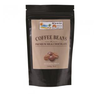 Noosa Natural Coffee Beans Milk Chocolate 100g