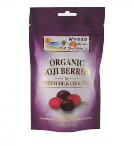 Noosa Natural Goji Berries Milk Chocolate 125g