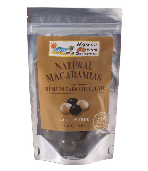 Noosa Natural Macadamias Dark Chocolate 100g