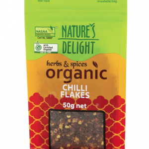Natures Delight Organic Chilli Flakes 50g