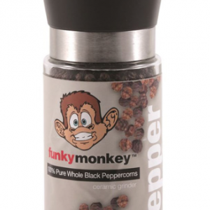 LinenCo Funky Monkey Ceramic Grinder Peppercorns 185g